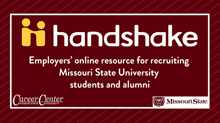 Handshake. Employers' online resource for recruiting MSU students and alumni.